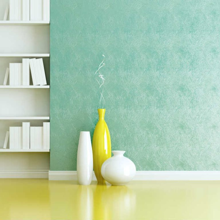 Green-Sponge-Painted-Wall